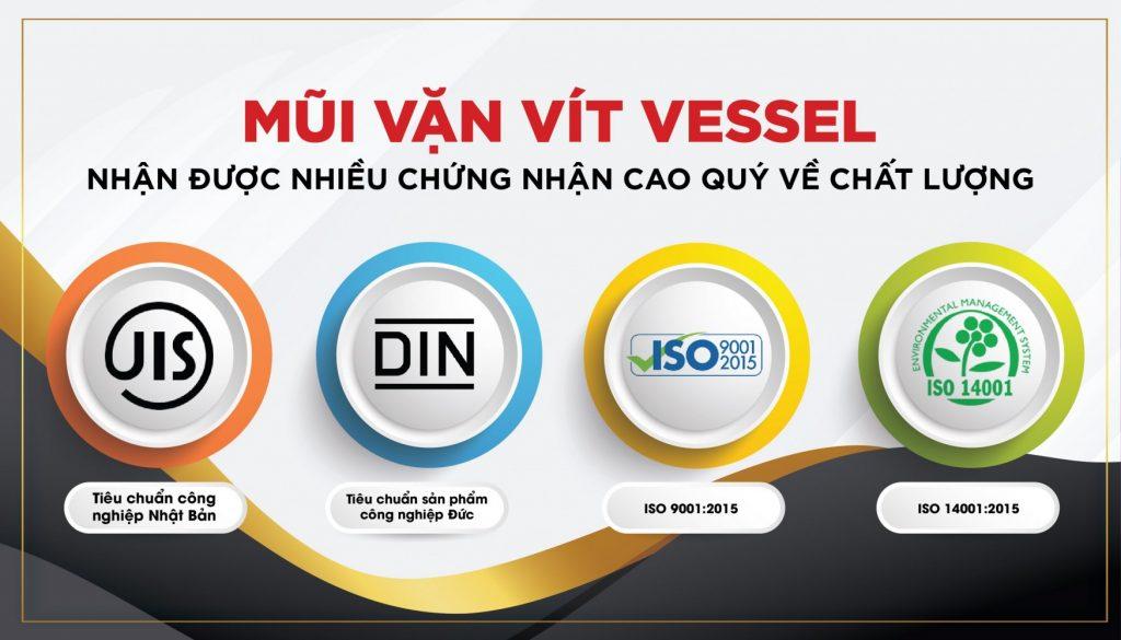 Mũi vặn vít Vessel vinh dự nhận được nhiều chứng nhận cao quý về chất lượng